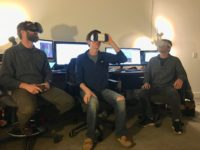 The Better Than Unicorns includes Brett McCall, John Kreisher and Justin Hamilton. They're inviting people to try out their virtual reality arcade at Ramp Studios in Asheville.