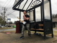 Head-banger Josh Foster rocks West Asheville bus stops