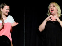 Maribeth Monroe and Jaime Moyer/ photo courtesy of Asheville Improv Collective