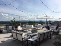 The Cambria Downtown Asheville Hotel's fourth-floor terrace off the Hemingway's Cuba restaurant.