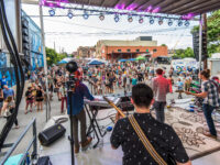 Xpand Fest, the one-day free music festival on the Asheville South Slope, enters its third year with a big lineup. Asheville band Window Cat performed on the Coxe Avenue stage at last year's event./ photo by David Simchock