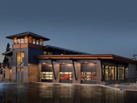 Transitional style architecture – Highlands Fire Station, Ward Young Architects