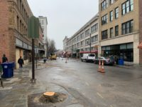 Haywood Street, downtown Asheville, March 2020./ photo by Jason Sandford