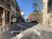An empty downtown Asheville, midmorning, late March./ photo by Jason Sandford