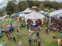 An arial shot of the 2017 summer LEAF Festival. Photo courtesy of LEAF Global Arts