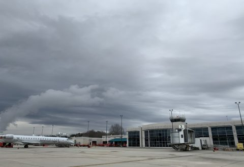 The Asheville Regional Airport, which has seen airport activity drop by 95 percent, is considering making several changes to address concerns about the spread of COVID-19./ photo by Jason Sandford