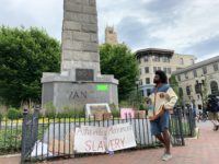 The Vance Monument in downtown Asheville, June 2020./ photo by Jason Sandford